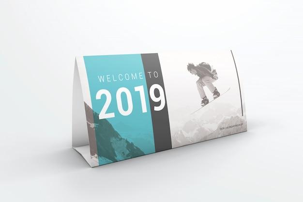 Makieta kalendarza biurka Premium Psd