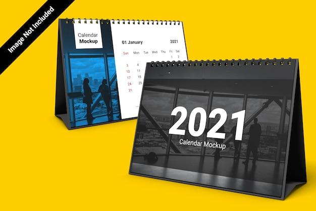Makieta Kalendarza Krajobrazu Z Spiralą Związaną Premium Psd