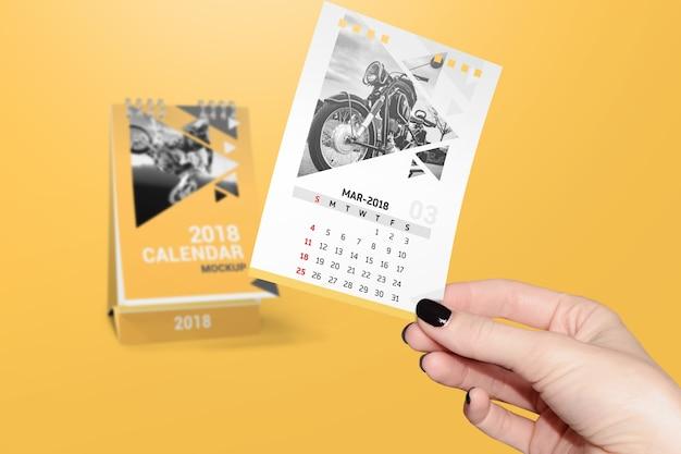 Makieta kalendarza twórczego Premium Psd