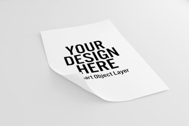 Makieta kartki papieru Premium Psd