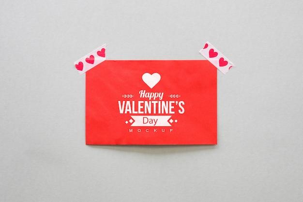 Makieta karty dla valentine Darmowe Psd