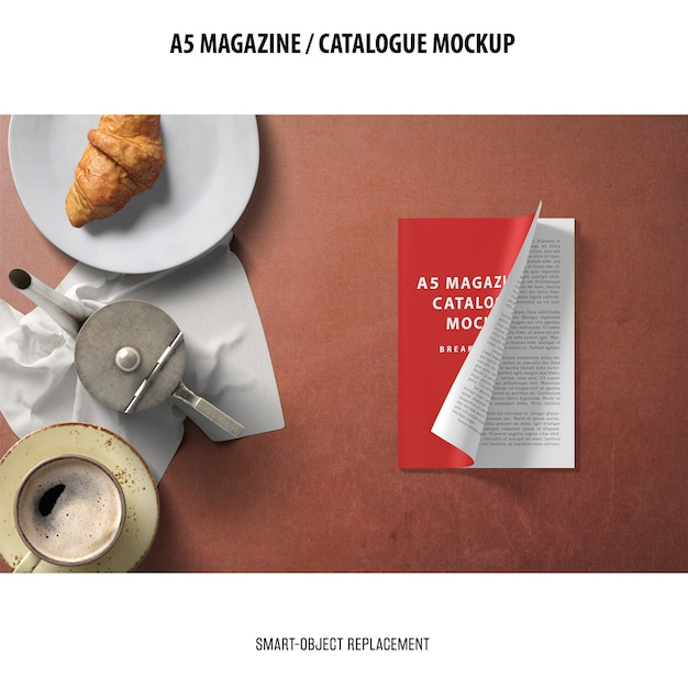 Makieta Katalogu Magazynu A5 Darmowe Psd