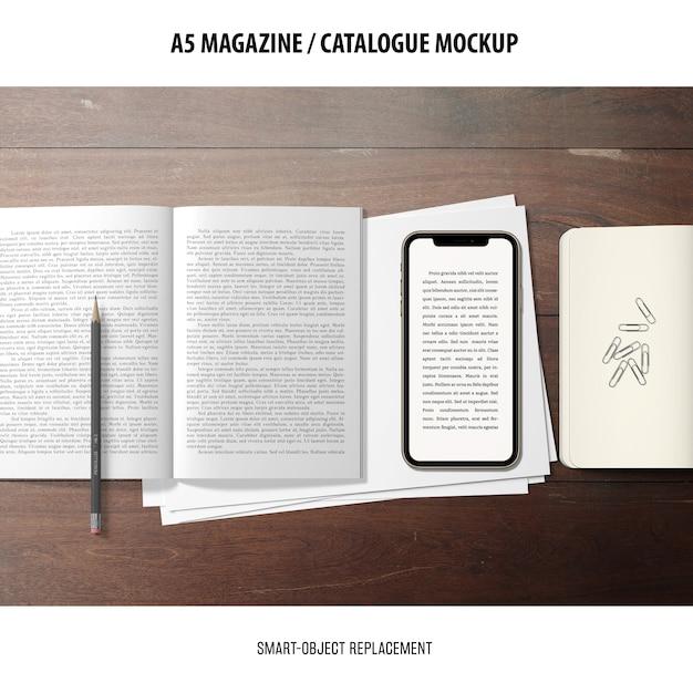 Makieta Katalogu Magazynu Darmowe Psd