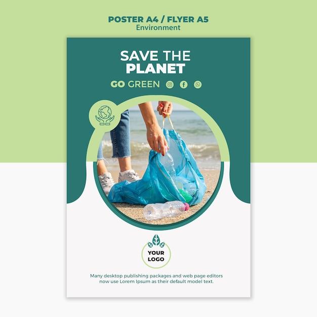 Makieta Koncepcja Plakat środowiska Darmowe Psd
