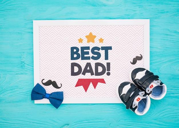 Makieta Koncepcja Szczęśliwy Dzień Ojca Darmowe Psd
