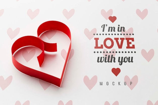 Makieta Koncepcji Miłości W Kształcie Serca Darmowe Psd