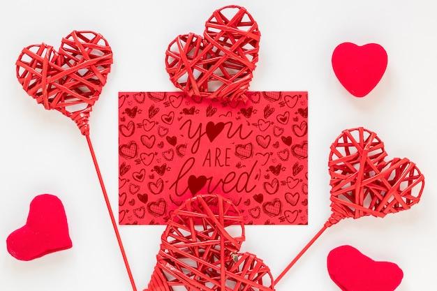 Makieta Koncepcji Walentynki Darmowe Psd
