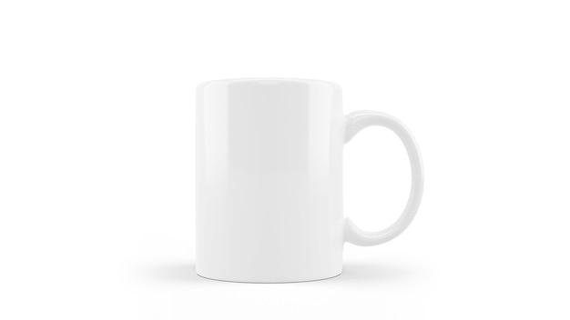 Makieta Kubek Ceramiczny Biały Na Białym Tle Darmowe Psd