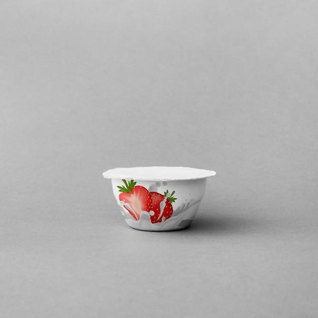 Makieta kubek jogurt Darmowe Psd