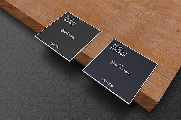 Makieta Kwadratowej Wizytówki Na Desce Premium Psd