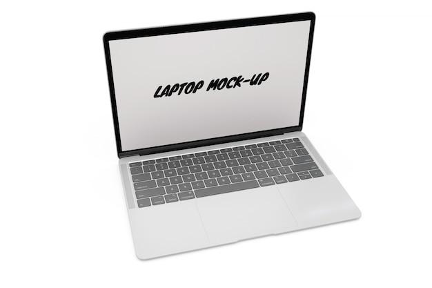 Makieta laptopa na białym tle Darmowe Psd