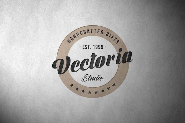 Makieta Logo Na Tekstury Papieru Premium Psd