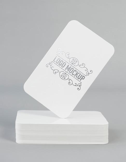 Makieta logo srebrnej folii Premium Psd