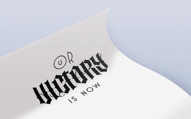 Makieta Logo Zwijającego Się Papieru Premium Psd