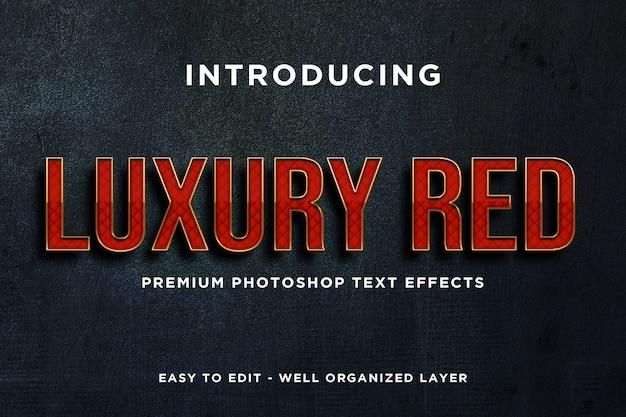 Makieta luksusowego efektu czerwonego tekstu premium psd Premium Psd