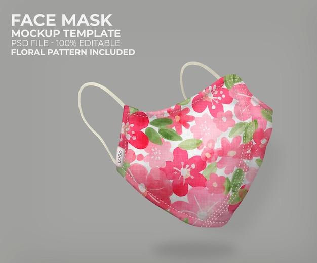 Makieta Maski Kwiatowy 3d Darmowe Psd