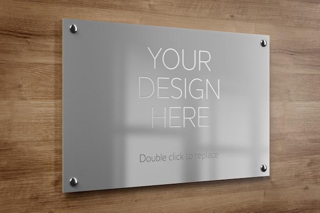 Makieta Metalowej Płyty Biurowej Premium Psd