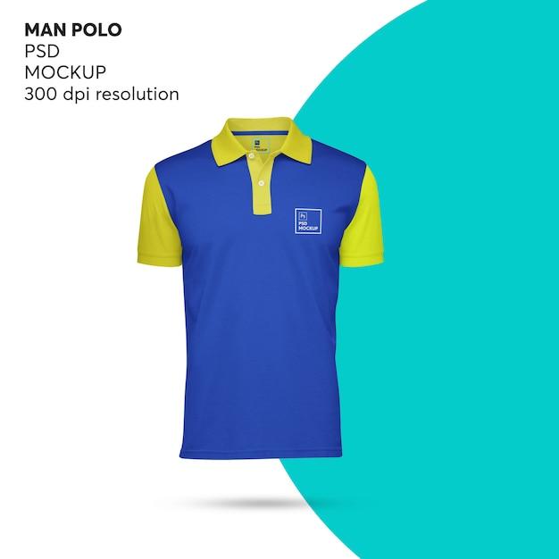 Makieta Mężczyzna Polo Premium Psd