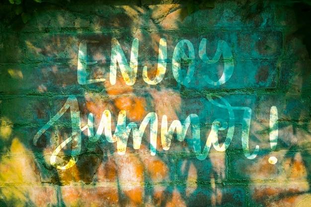 Makieta Miejsce Na ścianie Na Lato Napis Darmowe Psd