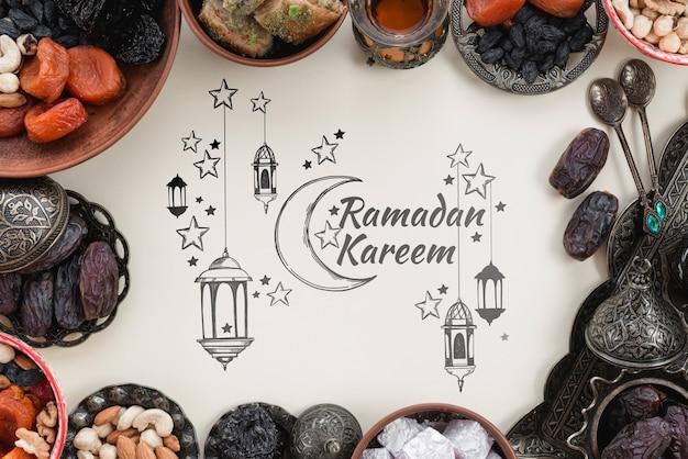 Makieta Miejsce Z Koncepcją Ramadanu Darmowe Psd