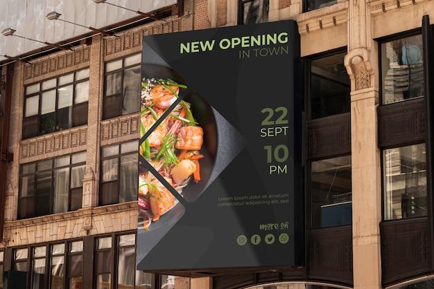 Makieta miejskich billboardów Darmowe Psd