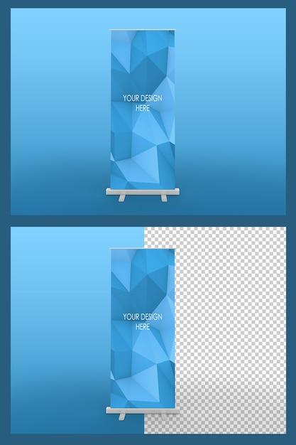 Makieta Na Białym Tle Roll Up Banner Premium Psd
