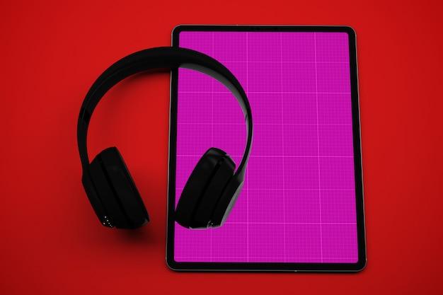 Makieta Na Tablet I Słuchawki Premium Psd