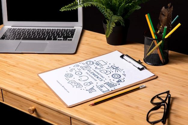 Makieta Notatnika Z Elementami Marketingowymi Darmowe Psd