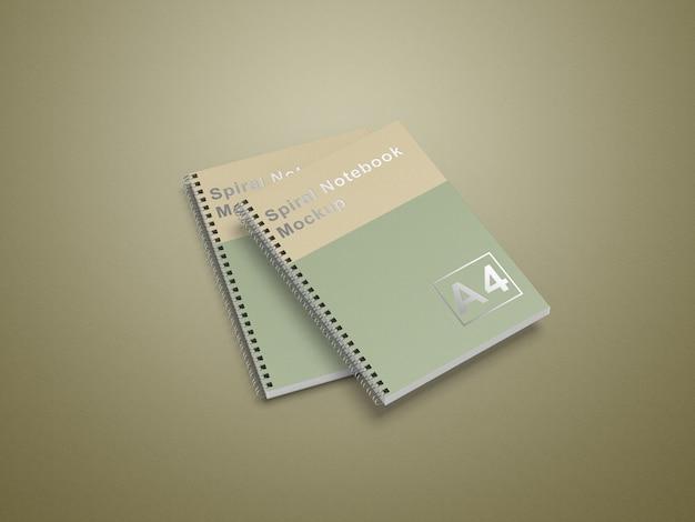 Makieta Notesu Spiralnego A4 Premium Psd