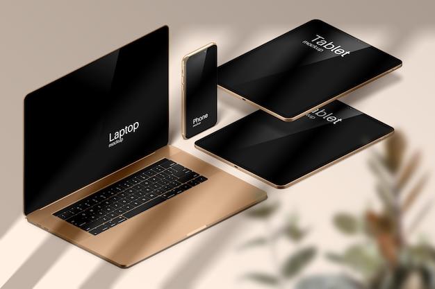 Makieta Nowoczesnych Urządzeń Apple Premium Psd
