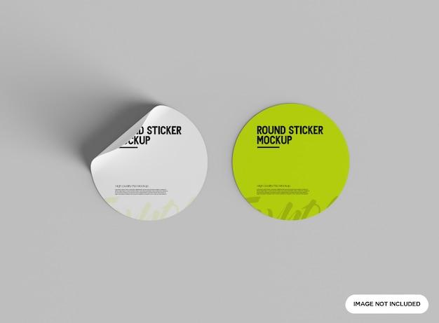Makieta Okrągłej Naklejki Premium Psd