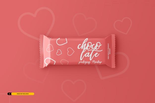 Makieta opakowań czekoladowych przekąsek Premium Psd
