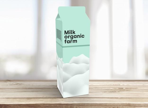 Makieta Opakowania Na Mleko Darmowe Psd