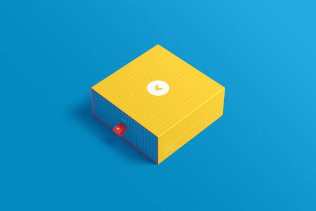 Makieta Opakowania Pudełkowego Premium Psd