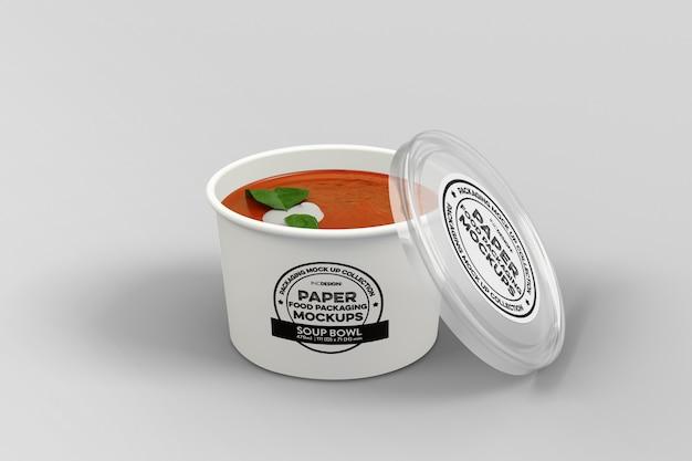 Makieta Opakowania Zupy Premium Psd