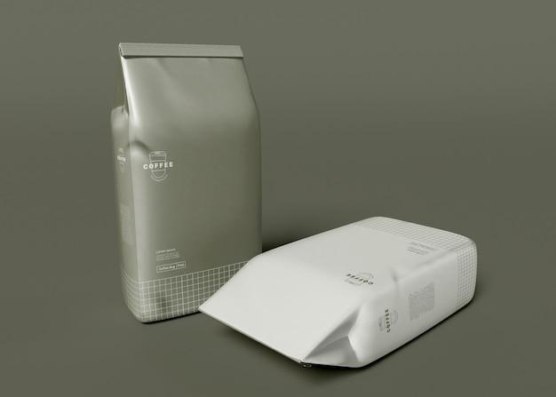 Makieta Papierowej Torebki Na Kawę Premium Psd
