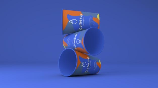 Makieta Papierowych Filiżanek Do Kawy Psd Premium Psd