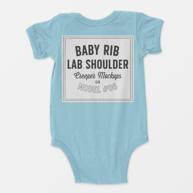 Makieta pełzacza na ramionach dla niemowlaka Darmowe Psd