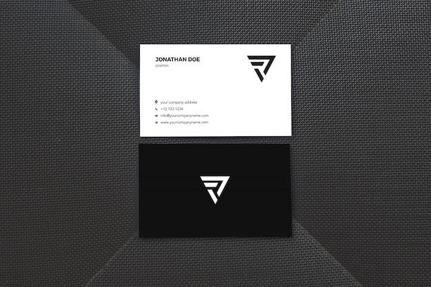 Makieta Pionowej Wizytówki Czarnej Powierzchni Premium Psd