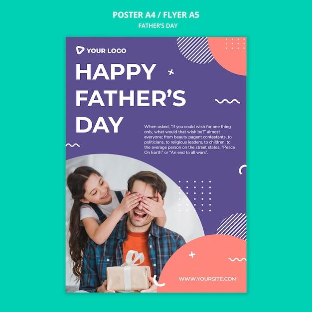 Makieta Plakat Koncepcja Dzień Szczęśliwy Ojciec Darmowe Psd