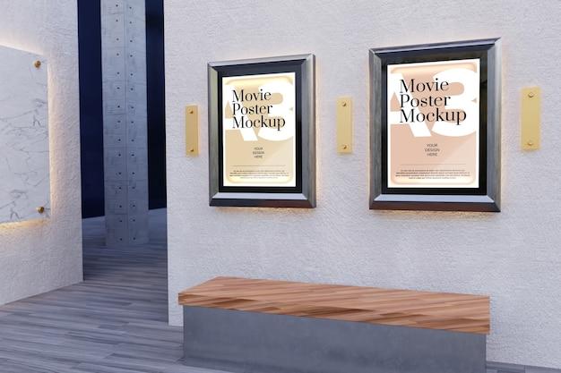 Makieta Plakatu Filmowego Premium Psd