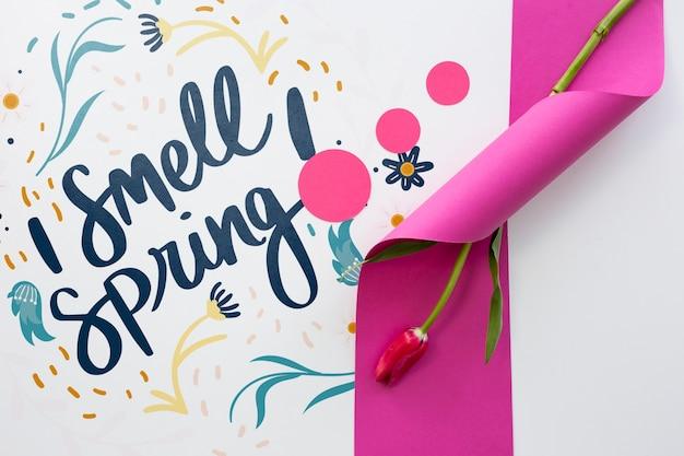 Makieta płaski świeckich wiosna z lato Darmowe Psd