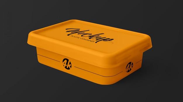 Makieta Plastikowego Pojemnika Premium Psd