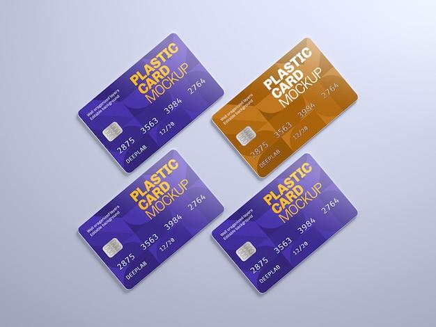 Makieta Plastikowej Karty Z Edytowalnym Kolorem Tła Premium Psd