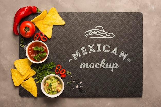 Makieta Podkładki Do Restauracji Meksykańskiej Ze Składnikami Na Wierzchu Darmowe Psd