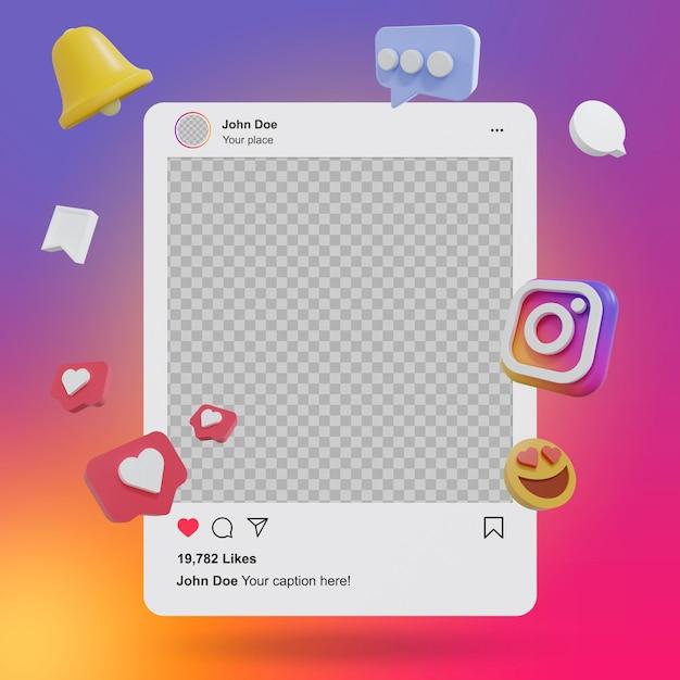 Makieta Postów Na Instagramie W Mediach Społecznościowych Premium Psd