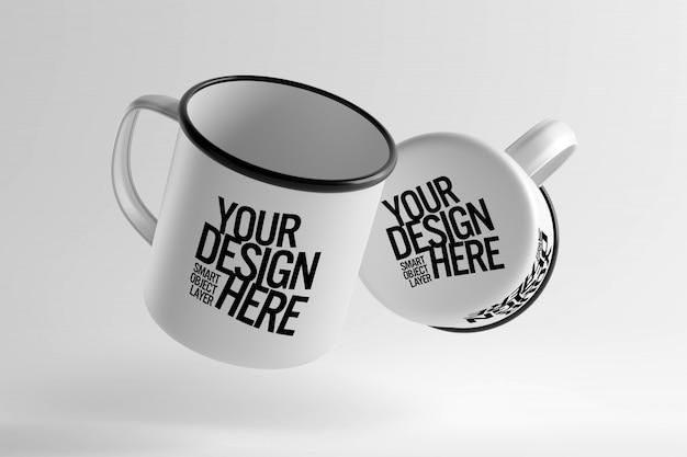 Makieta Projektu Ceramicznego Kubka Premium Psd