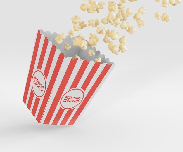Makieta Pudełka Na Popcorn Darmowe Psd