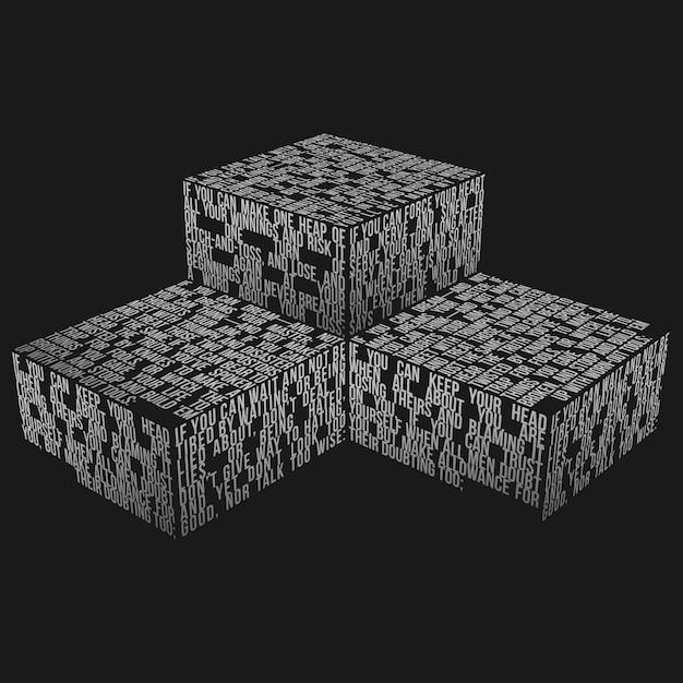 Makieta pudełka typografii Premium Psd