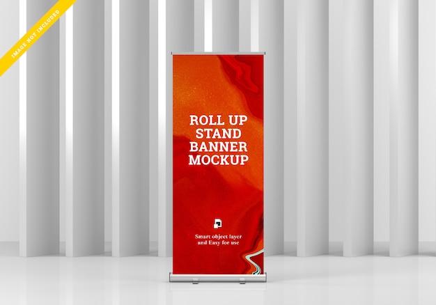Makieta Roll Up Bannera. Premium Psd